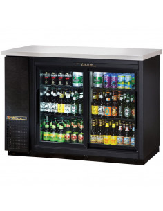 True TBB-24-48G 220/60/1 Sliding Glass Door Back Bar Refrigerator with LED Lighting