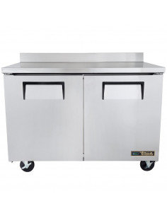 True TWT-48F-220V Two Door Worktop Freezer