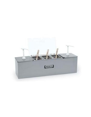 Nemco 88101-CB-2 Stainless Steel Condiment Bar