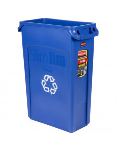 Rubbermaid FG354007BLUE Slim Jim 23 Gallon Blue Container