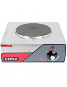 Nemco 6310-1-240 Electric Countertop Hot Plate with 1 Solid Burner