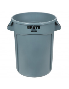Rubbermaid FG263200GRAY BRUTE 32 Gallon Gray Trash Can