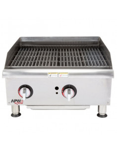 Bakers Pride BPXP-GCB-24i Countertop GAS Radiant Charbroiler 24""