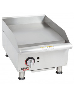 """Bakers Pride BPXP-GGT-18i Thermostatic Control Countertop GAS Griddle 18"""""""