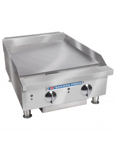 """Bakers Pride BPXP-GGT-24i Thermostatic Control Countertop GAS Griddle 24"""""""